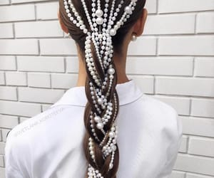 pearls and hairstyle image