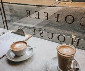 coffee shop latte and aesthetic calm lovely image