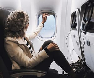 airport, fly, and fashion image