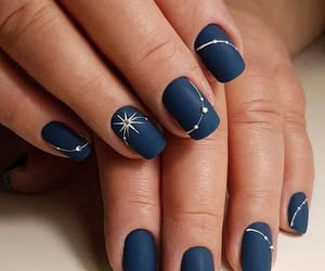 art, beauty, and blue nails image