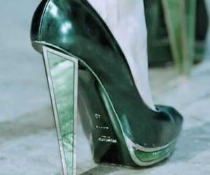 fashion, woman, and green image