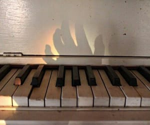 piano, shadow, and beautiful image