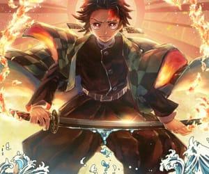 sun, manga color, and demon slayer image