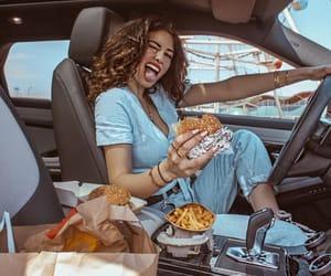 burger, eating, and fashion image