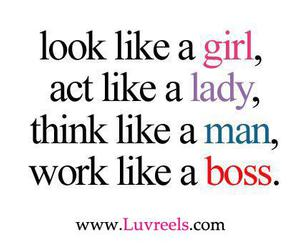 girl, lady, and boss image
