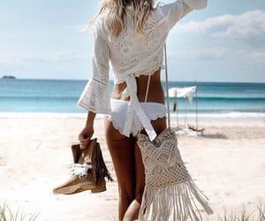 beautiful, fashion, and beach image