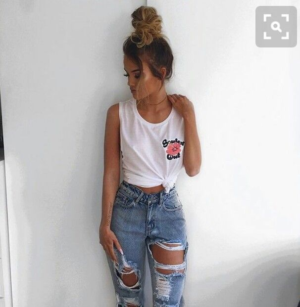 Outfits con jeans tumblr