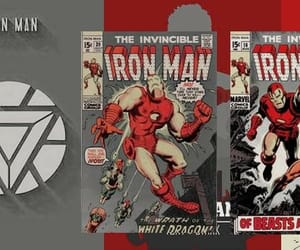 header, iron man, and Marvel image