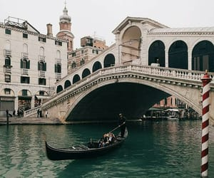 architecture, venice, and bridge image