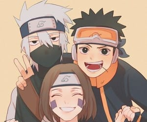 kakashi, rin, and obito image