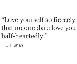quote, selflove, and love image