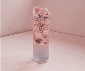 drink, flowers, and ice image