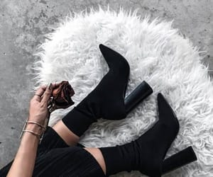 ankle boots, black, and style image