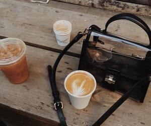 coffee, bag, and fashion image