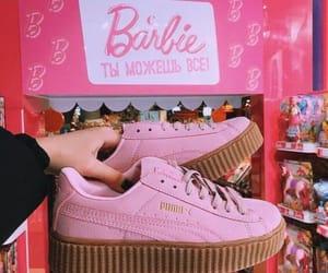 pink, barbie, and puma image