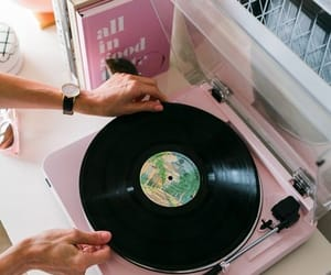 music, pink, and retro image