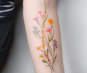 tattoo and floral image