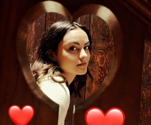 brown, hearts, and camila mendes image