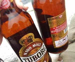beer, tuborg, and alchol image