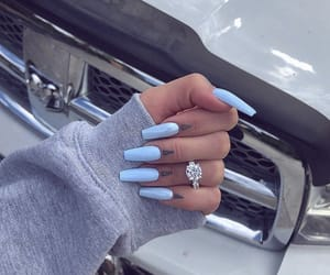 beauty, perfect nails, and blue image