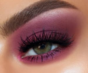 cranberry, green eye, and makeup image