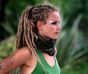 dreadlocks, green, and hula hoop image