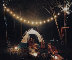 love, forest, and night image