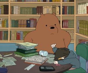 cartoon, study, and we bare bears image