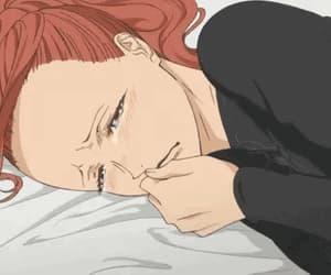 anime girl, anime sad, and gif image