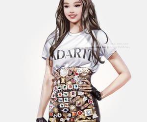 fanart, kpop, and jennie image