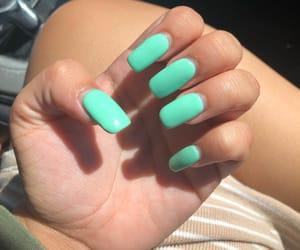 acrylics, green, and nails image