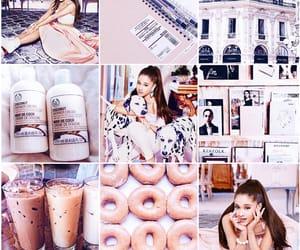 peach, theme, and purple image