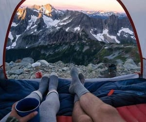 mountains, couple, and explore image