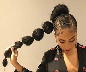 black hair and makeup image