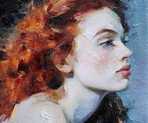 art, redhead, and beauty image