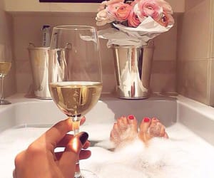 bath, champagne, and luxury image
