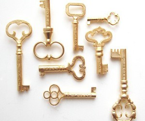 gold and key image