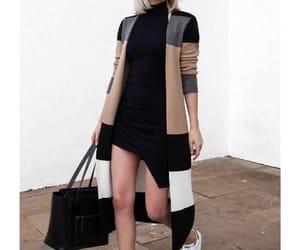 black, dress, and bolso image