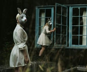 rabbit, grunge, and mask image