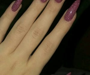nails, stiletto, and glamtastic image