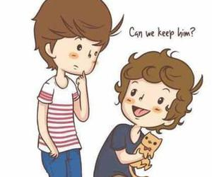 cat, louis, and louis tomlinson image