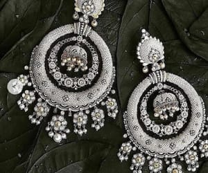 earings, jewellery, and silver image