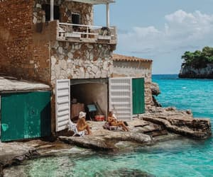 coast, vacation, and Greece image