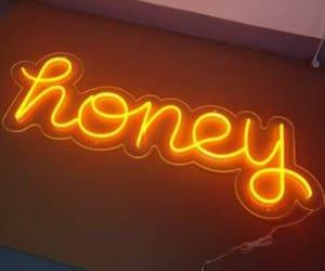 honey, neon, and asthetic image