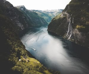 mountain, nature, and river image