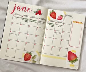 june, strawberry, and month image