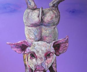 art, paintings, and pig image