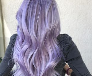 purple hair and pastel hair image
