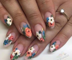 floral, flower, and gel nails image
