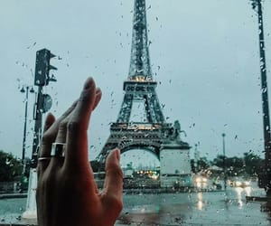 paris, rain, and travel image